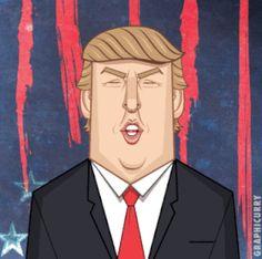 Donald Trump président des USA  Good Luck America par Graphicurry  Dessein de dessin