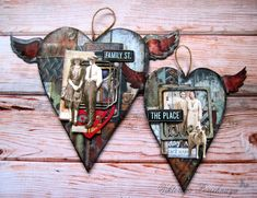 "Today Crew Member Viktoriya Porechnaya share her inspirational piece for our February Challenge ""We ♥ You"". ""These Hearts in vintage style about family treasures from 7gypsies Architextures . I used papers and Junque Pack for creating great old effects and Tattered Angels Naturaily Aged Kit and Decor & DIY paint for adding ""rust"" on it. If you have old family's photos ,it will be great to use it for your own family memories"". Products from Canvas Corp Bra..."
