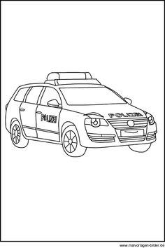 ausmalbilder polizei autos 01 polizei pinterest. Black Bedroom Furniture Sets. Home Design Ideas