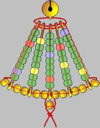 """Make a Safety Pin Christmas Tree!  It's cheap and easy.      You need:    5 Safety Pins, 3""""  32 Translucent Green Pony Beads  11 Metallic Pony Beads  White Glue  30"""" Metallic Cord  One 5/8"""" Jingle Bell    Find complete directions at: http://www.makingfriends.com/safepin/safety_pin_tree.htm"""