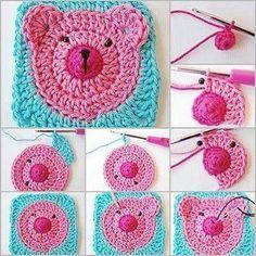 Crochet granny square infantil