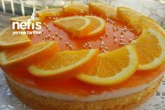 Light Cake Recipe with Orange Sauce Light Cakes, Orange Recipes, Food Cakes, Beautiful Cakes, Yummy Treats, Cake Recipes, Deserts, Food And Drink, Tasty