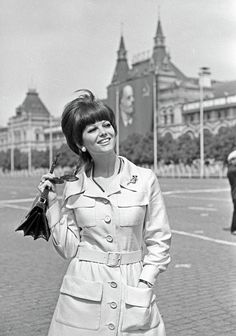 Claudia Cardinale on Red Square, 1967.