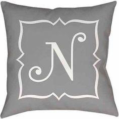 Thumbprintz Silver Script II Monogram Decorative Pillows