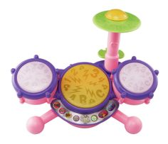 KidiBeats Drum Set, great for kids 2-5. If toddlers are going to bang on and hit things constantly, they might as well learn about numbers, letters and music while doing so. Featured on my @TODAY segment about toys that teach.