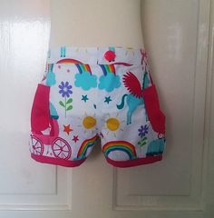 Check out this item in my Etsy shop https://www.etsy.com/listing/227708005/rainbow-unicorns-shorts-age-3-bubble