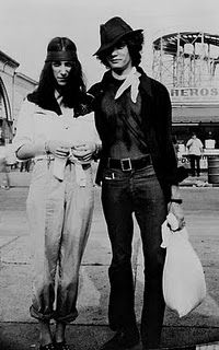 Patti Smith + Robert Mapplethorpe!  I don't know which one has more swag.