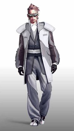 Check out some of the best cyberpunk character concept art online. Cyberpunk Mode, Arte Cyberpunk, Cyberpunk Fashion, Steampunk Fashion, Gothic Fashion, High Fashion, Cyberpunk Aesthetic, Gothic Steampunk, Steampunk Clothing