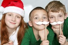 Idea for Christmas photo - mustaches