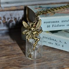 Wishes: Real Dandelion Seed Mini bottle by ThumbelinasWish on Etsy Dandelion Seeds, Bottle Necklace, Mini Bottles, Childhood Memories, Wish, Place Card Holders, Unique Jewelry, Handmade Gifts, Vintage