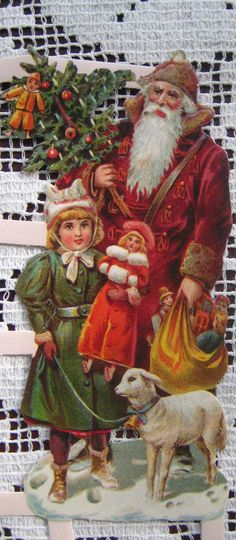Santa Claus Paper scraps from Germany