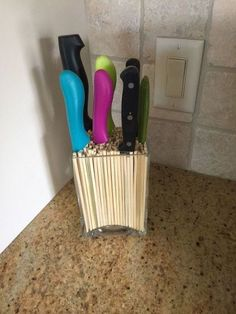 A Stylish and Unique Way to Display Your Kitchen Knives | Hometalk