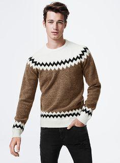 Jacquard Sweater   Simons #maisonsimons #Le31 #giftideas  #christmas