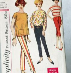 Vintage 1960s Sewing Pattern Simplicity 2814 by Old2NewMemories, $6.75