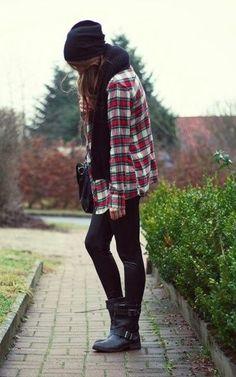 Just a Pretty Style: Fall fashion plaid shirt and beanie