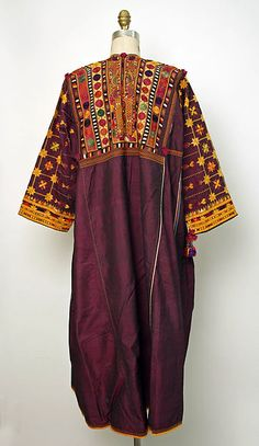 Middle East, embroidered silk tunic, 20th c