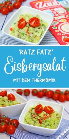 Ratz-Fatz Eisbergsalat Do you need a salad recipe that is really fast and you do not have much to poke about. Then this Thermomix recipe is just right, because the Ratz Fatz iceberg lettuce is ready in a few seconds and tastes really delicious. Healthy Salad Recipes, Detox Recipes, Healthy Foods To Eat, New Recipes, Crockpot Recipes, Chicken Recipes, Avocado Dessert, Paleo Chocolate Cake, Salad Ingredients