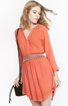 Gentle Fawn Crush Dress in Coral S | DAILYLOOK