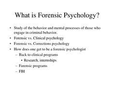 Forensic Psychology need essay written