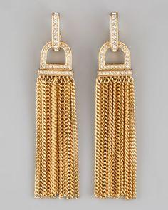 Rhinestone Tassel Earrings - Neiman Marcus