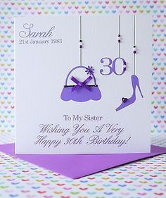 Personalised #handmade #birthday #card,18th,21st,30th,40th,50th,best friend,siste,  View more on the LINK: http://www.zeppy.io/product/gb/2/280813140369/