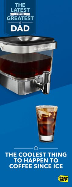 Anyone can make a hot cup of coffee in the morning. But, if your Dad likes a rich, smooth ice coffee around the clock, the KitchenAid Cold Brew Coffee Maker is the one for him. It's simple to use, easy to clean and fits right in the fridge. Gotta run? Flip up the handle and take it to go. Find tasteful Father's Day gifts like this and more at Best Buy.