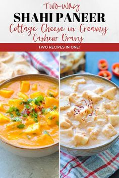 Shahi paneer or cashew paneer made two ways. A creamy, rich and mellow gravy with soft malai paneer cubes. Serve with warm naan for a tasty meal! Indian Paneer Recipes, North Indian Recipes, Indian Food Recipes, Pear Recipes, Curry Recipes, Brunch Recipes, Free Recipes, Dinner Recipes, High Protein Vegetarian Recipes