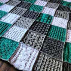 Crochet Along (CAL) Textured Fun Blanket - Crochet it Creations pattern. Crochet Along (CAL) Textured Fun Blanket – Crochet it Creations pattern… Crochet Alon Crochet Afghans, Crochet Stitches For Blankets, Crochet Square Blanket, Crochet Square Patterns, Crochet Quilt, Crochet Patterns For Beginners, Crochet Blanket Patterns, Baby Blanket Crochet, Easy Crochet
