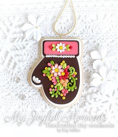 This is s one of a kind, handcrafted ornament made of durable polymer clay, with much attention given to detail and careful construction. No molds have been used, so you can be sure you are receiving a unique and one of a kind keepsake.  This ornament measures approximately 2 3/4