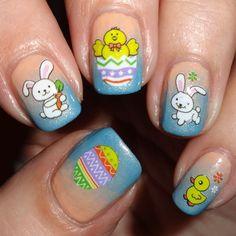 Eggstravaganza Nail Water Decals | Nail Art Supplies | Sparkly Nails