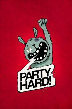 'PartyHARD!' von Kuba Gornowicz bei artflakes.com als Poster oder Kunstdruck $17.33
