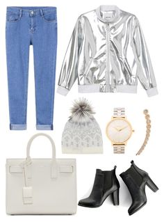 """""""SILVER NEW GOLD"""" by diewertje-derks ❤ liked on Polyvore featuring Monki, Yves Saint Laurent, SWEET MANGO, Mint Velvet, Nixon, Bee Goddess, outfit and silvernewgold"""