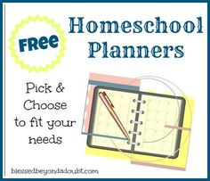 Pick a Free Homeschool Planner! Includes an online scheduler and MYRIAD printables, including one for unschools. This is a *great* list.