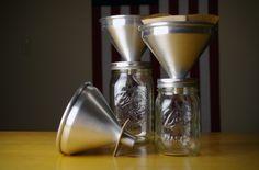Mason Jar coffee filter cone for any size jar