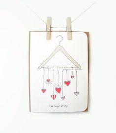 "Witty Valentine's Day Hand Drawn Card : "" I love hangin' wit'chyu "" by LionandLisa on Etsy https://www.etsy.com/listing/92104688/witty-valentines-day-hand-drawn-card-i"