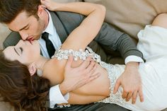 We don't know what's more dazzling, that passionate embrace or crystal beadwork.