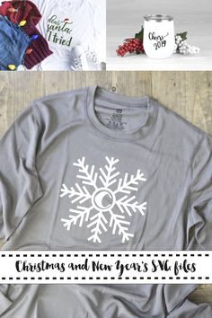 Get this and two more darling holiday SVG files from Everyday Party Magazine #SVGSaturday #DearSanta #DIYShirt