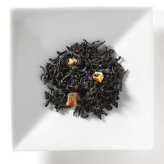 Pear Caramel tea from Mighty Leaf Tea - black tea with pear and sweet bits of caramel