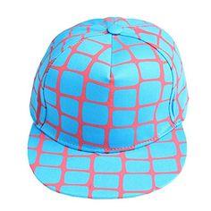 Home Prefer New Grid Pattern Women s Flatbill Visor Snapback Fashion Hat  Hip Hop Cap Blue Home d0d660200554