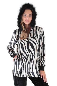 Claire Katrania Βελούδινη Φόρμα Zebra Μεγάλα Μεγέθη