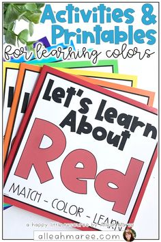If you're learning colors with your toddler or preschooler, these printables and activities are perfect for you! There are color AND black and white options included so you can make a book to use one time or a book to use over and over. These worksheets fit perfect into the blank books from Target too, keeping all your activities in one place. Click the pin to see all the fun activities included! #toddlerskills #preschoolskills #learningcolors