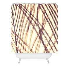 Shannon Clark Sheer Gold Shower Curtain   DENY Designs Home Accessories 71 x 94