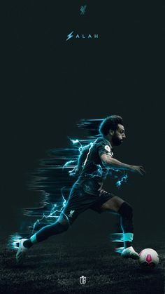 Running down the wing. Liverpool Live, Salah Liverpool, Manchester United Football, Liverpool Football Club, Lionel Messi Wallpapers, Ronaldo Wallpapers, Football Design, Football Art, Soccer