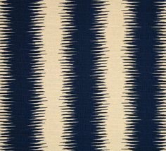 Textured Navy Stripe Curtain Panel with Rod Pocket by Primal Vogue™ - Dark Blue Ivory - 100% Cotton UNLINED - Striped Barkcloth Drapes Decor