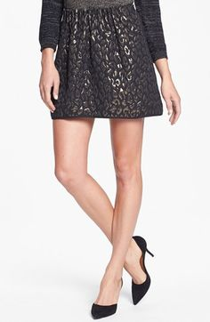 Kenneth Cole New York 'Verona' Metallic Jacquard Skirt (Petite) available at #Nordstrom