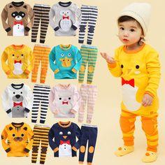 "Vaenait Baby Toddler Kid Boy Girls Clothes Sleepwear Pajama ""Tie Animal"" 12M-7T #VaenaitBaby #TwoPiece"
