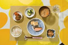 <p>The first time Saki ate the fermented soybean dish called <em>natto</em>, she was 7 months old. She promptly vomited. Her mother, Asaka, thinks that perhaps this was because of the smell, which is vaguely suggestive of canned cat food. But in time, the gooey beans became Saki's favorite food and a constant part of her traditional Japanese breakfasts. Also on the menu are white rice, miso soup, <em>kabocha</em> squash simmered in soy sauce and sweet sake (<em>kabocha no nimono</em>), ...