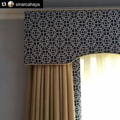 Window treatments designed by at Window Treatments Living Room, Custom Window Treatments, Traditional Window Treatments, Home Curtains, Curtains With Blinds, Burlap Curtains, Curtain Pelmet, Pelmet Box, Curtain Rods