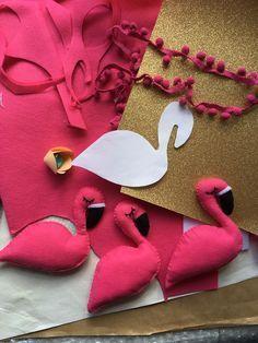 how to make a felt flamingo softie