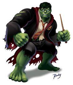 Hulk vs. Harry Potter by ~RockyDavies on deviantART